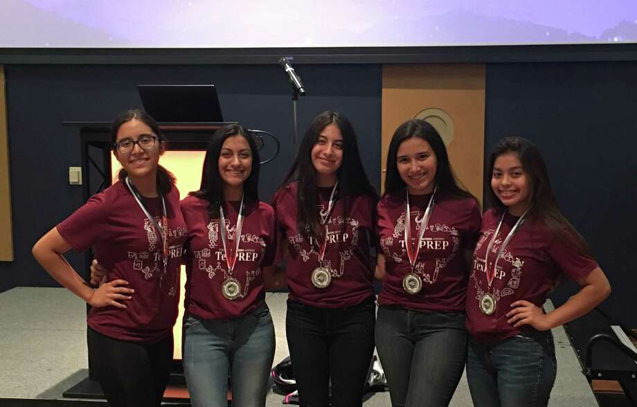 TexPREP winning team members Paulina Canche, Alessandra Hernández, Luisa Ramírez, Miranda Beltran and Karla Freyre. Photo: Courtesy Of TAMIU
