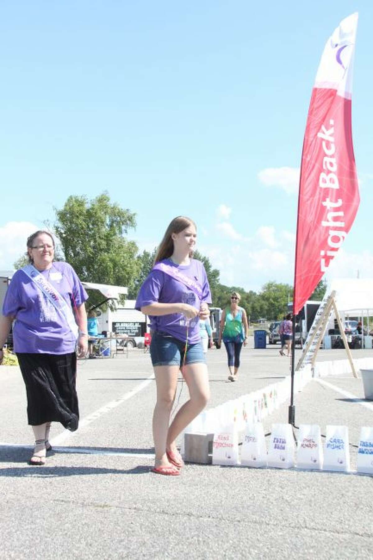 The Manistee County Relay for Life was held at First Street Beach in 2017, and people of all ages took part in the activities. This year's event is slated for Saturday at Manistee High School. (News Advocate File Photo)