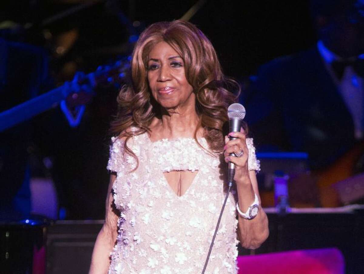 This Aug. 26, 2017 file photo shows Aretha Franklin in concert in Philadelphia. Franklin's sons disagree about who should manage what could be a multimillion-dollar estate. Attorneys for Theodore White II last week told a Michigan judge in a court filing that White should be named co-executor, or personal representative, along with Franklin's niece, Sabrina Owens. (Photo by Owen Sweeney/Invision/AP, File)