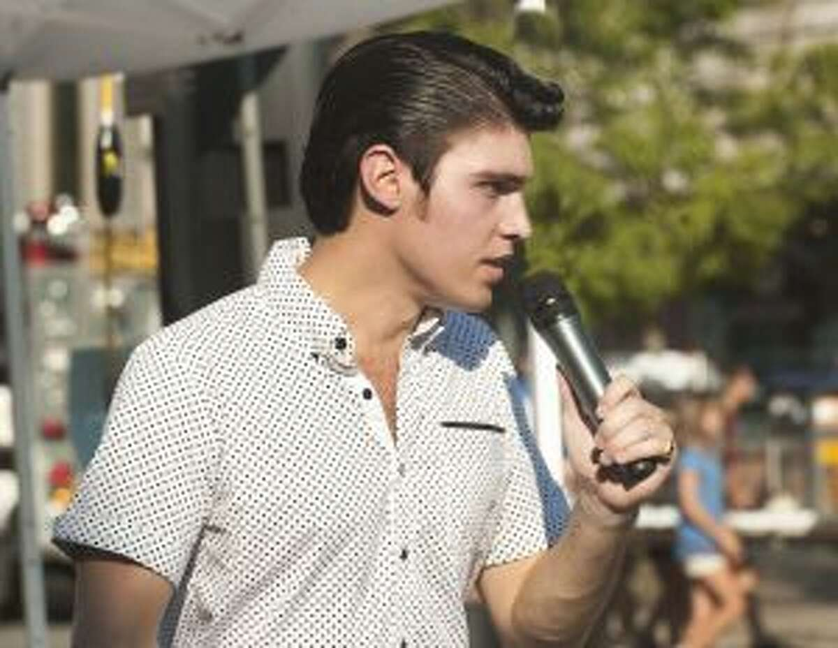 Elvis tribute artist Jake Slater will perform at 7 p.m. on Monday as part of the Portage Lake Association's Concert in the Park series in Onekama Village Park. (Courtesy photo)