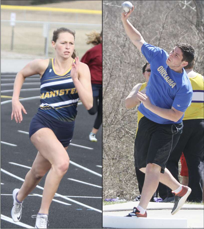 Erin Dorn (left) and Zach Belinsky (right) earned Academic All-State honors for their efforts on the track and in the classroom. Dorn earned a Division 3 Academic All-State nod in the 800 meters while Belinsky qualified in Division 4 shot put. (News Advocate file photos)