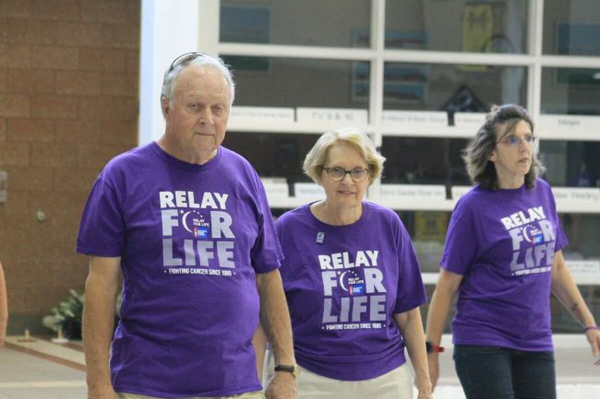 Participants in the Relay for Life walk to aid the American Cancer Society. (Scott Fraley/News Advocate)