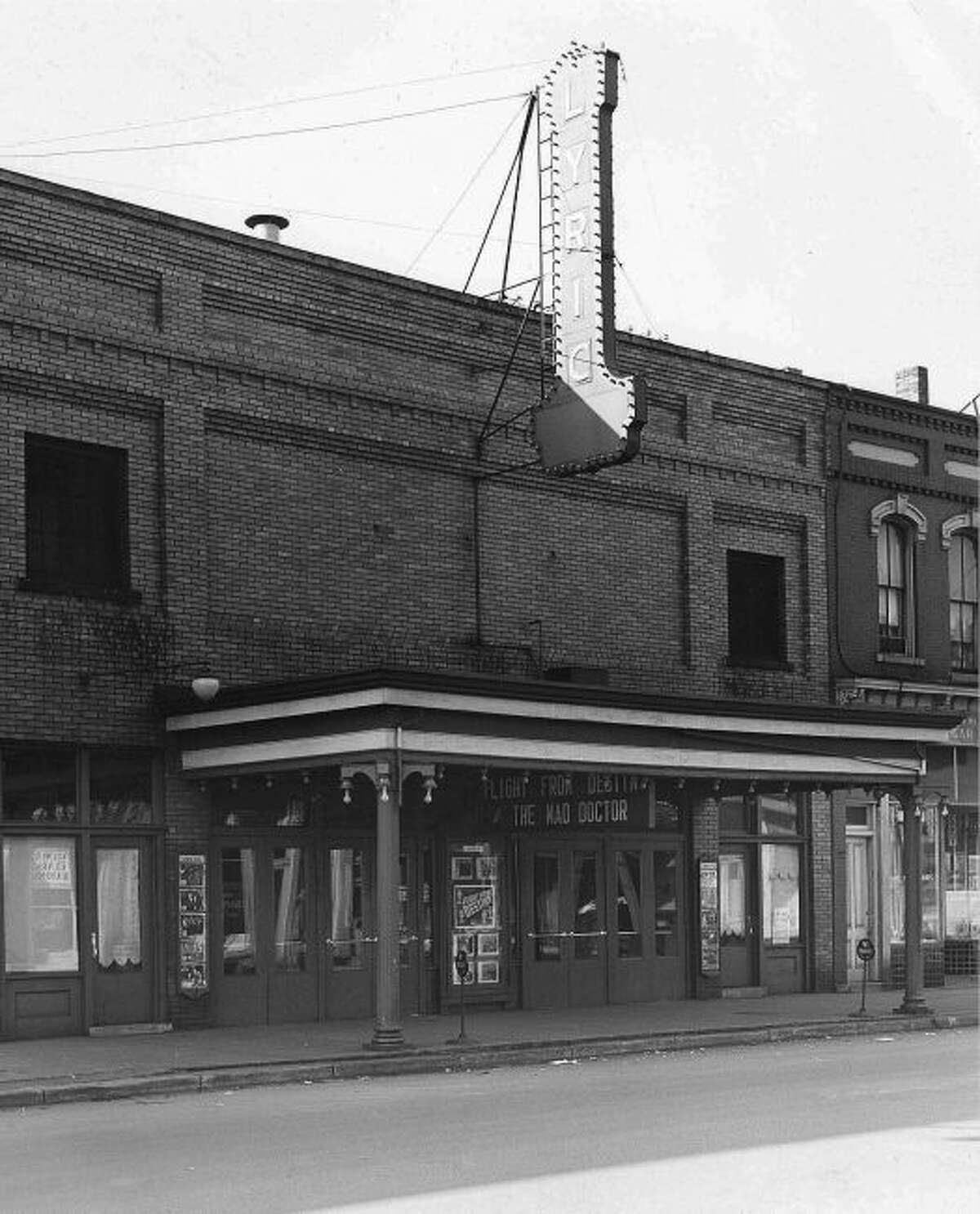 The Lyric Theatre was a popular place to view movies in downtown Manistee in the 1940s. It would later become the home of the Salvation Army for many years.