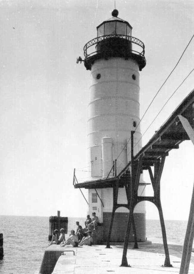 The main deck of the Manistee North Pierhead Lighthouse will be open from 1-3 p.m. on Saturday. Steve Harold, lighthouse coordinator will be present to answer any questions. (Courtesy photo)