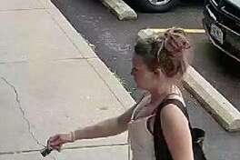 The Madison County Sheriff's Office is seeking information on the woman in this photo as they investigate a June case involving a vehicle stolen in rural Alhambra.