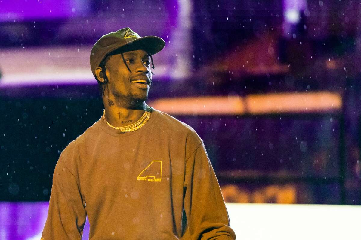 Travis Scott is supporting Houston's youth in a major way. (Photo by Lorne Thomson/Redferns)