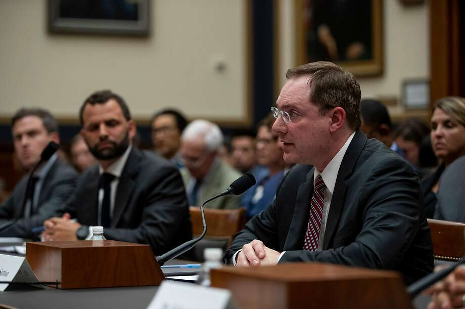 Nate Sutton, an Amazon lawyer, testifies on Capitol Hill last month about practices of the big tech companies. Photo: Anna Moneymaker / New York Times