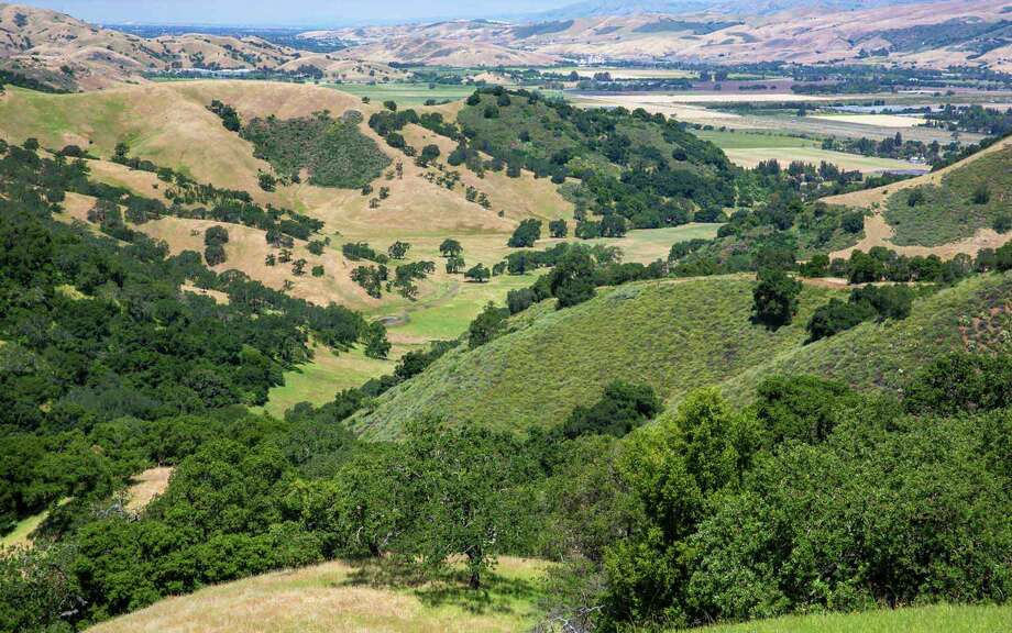 A single block of 1,860 acres of mostly undeveloped land, Tilton Ranch is located 20 miles south of Silicon Valley's San Jose city center. Photo: Hall And Hall