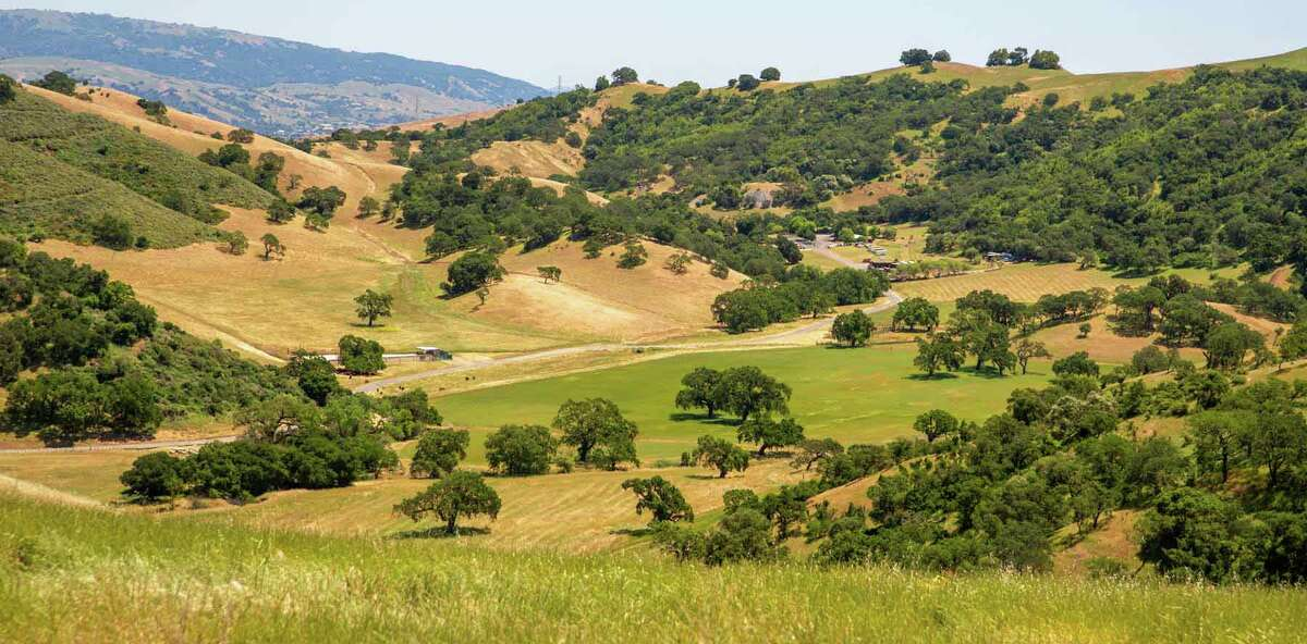 A single block of 1,860 acres of mostly undeveloped land, Tilton Ranch is located 20 miles south of Silicon Valley's San Jose city center.