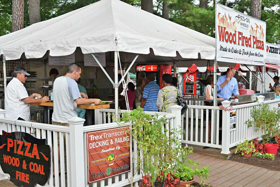 Pies on Wheels, across from Carousel entrance at Saratoga Race Course Wednesday Aug. 15, 2012. (John Carl D'Annibale / Times Union) Photo: John Carl D'Annibale / 00018831A