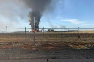A small plane caught fire after a failed takeoff Wednesday.