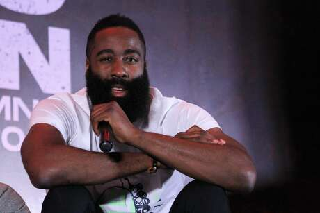 SMX CONVENTION CENTER, MOA, PASAY CITY, METRO MANILA, PHILIPPINES - 2019/06/26: NBA Superstar and 2018 MVP James Harden visited Manila to promote his latest shoe, the Adidas Harden 5. He had the opportunity to meet and interact with the media from Manila, as well as thousands of his fans who gathered at the SMX Convention Center, MOA for his Free to Harden Manila event. (Photo by Dennis Jerome Acosta/Pacific Press/LightRocket via Getty Images)