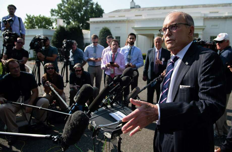 "The White House obviously wants to project financial confidence but economic adviser Larry Kudlow's reaction to current troubling market trends is to pretended the data doesn't exist, saying ""let's not be afraid of optimism."" Photo: Saul Loeb /Getty Images / AFP or licensors"