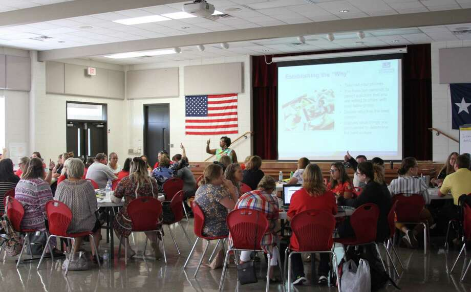 COCISD has implemented a balanced literacy program that has improved student academic achievement. Teachers began training in June for the upcoming school year, with professional development continuing this week and next, in preparation for the first day of school for students on Monday, Aug. 26. Photo: Submitted