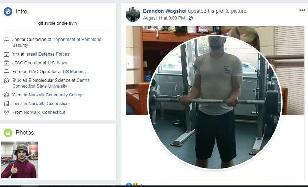 Screenshots from social media sites linked to Brandon Wagshol.