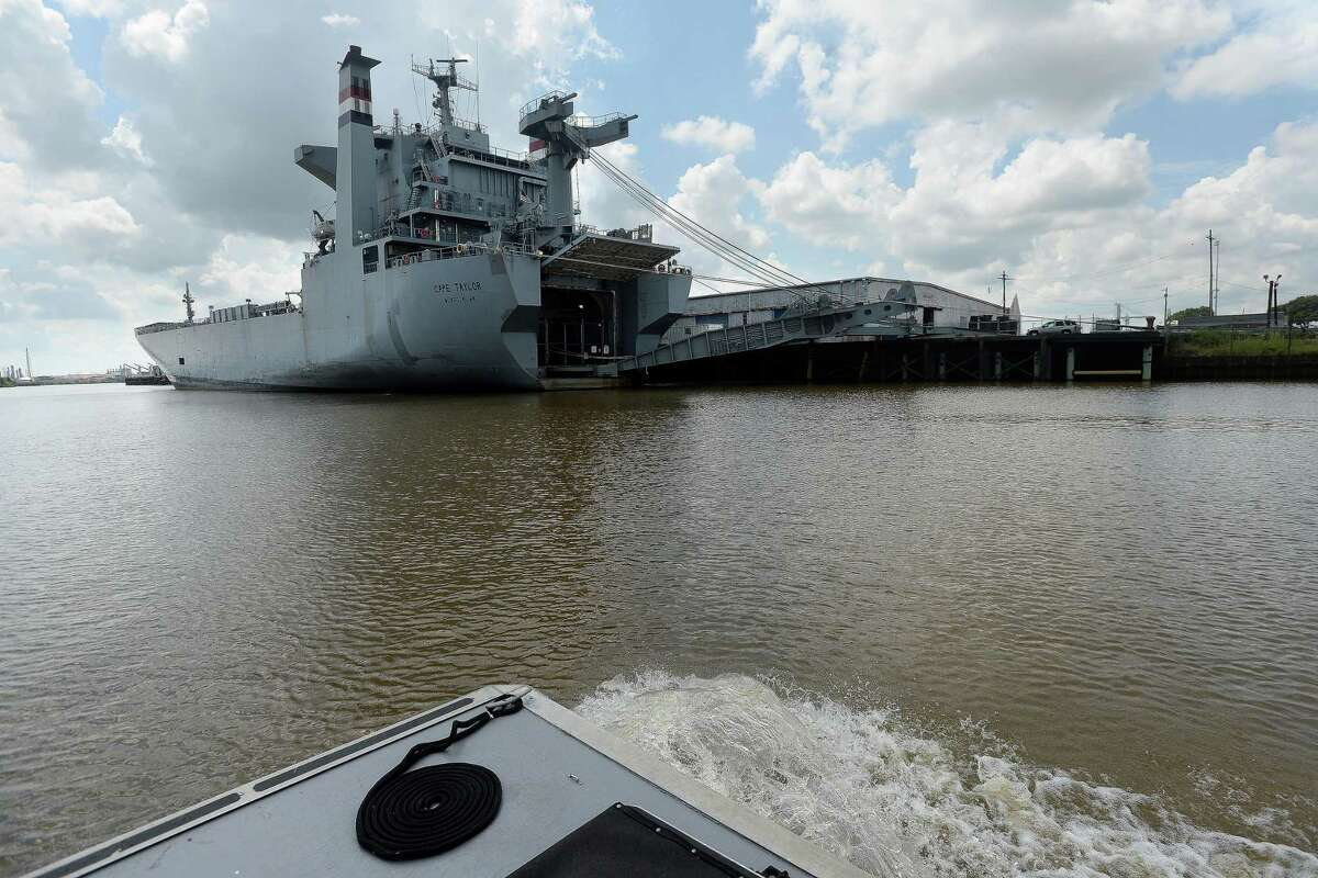 Views of downtown Beaumont and the Port of Beaumont, as well as the remaining devastation to the riverfront from Tropical Storm Harvey, are among the highlights of the Saturday Neches River tours aboard the