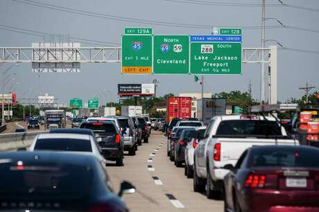 Traffic travels up Interstate 69 towards downtown Houston, Wednesday, June 12, 2019. The area could significantly change if current plans for redevelopment of Interstate 45 proceed as planned.