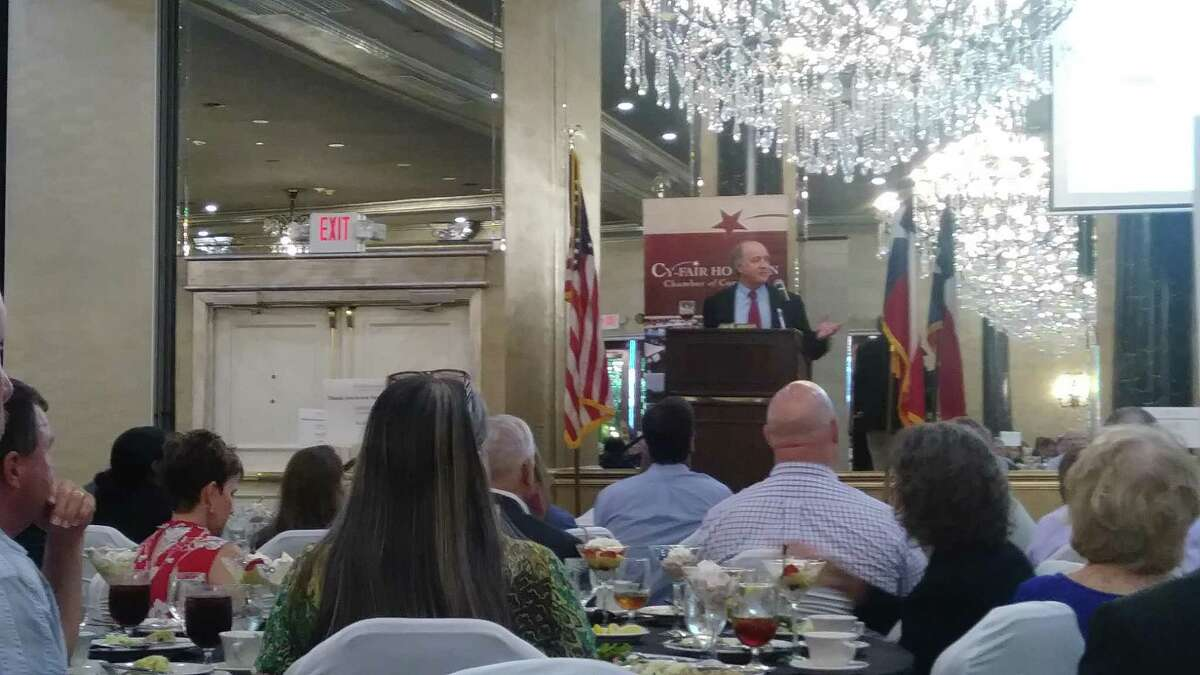 Darrell Bordchardt was the guest speaker for the latest Cy-Fair Houston Chamber of Commerce General Membership Luncheon, where he spoke about road problems and solutions across Texas