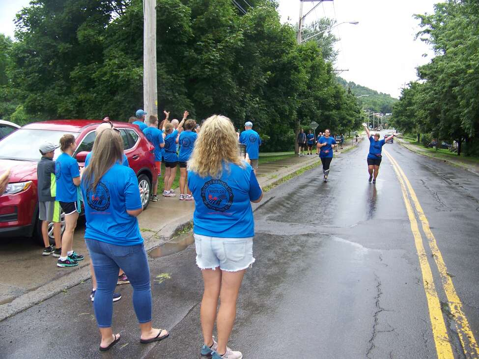 About 50 runners who have participated in the Route 20 Road Challenge over its 20-year existence took part in a relay covering the entire distance of the Route 20 Scenic Byway from Duanesburg to Lafayette on Saturday, Aug. 17, 2019.