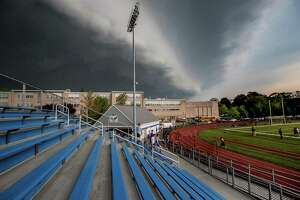 FILE PHOTO: Taken at Fairfield Ludlowe High School on Tuesday May 15, 2018 as a storm approached.