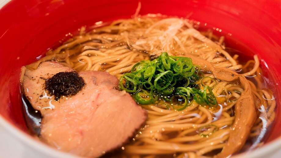 Tsuta's specialty is the shoyu ramen, served with char siu, bamboo shoots and a black truffle sauce. Photo: Tsuta Japanese Soba Noodles