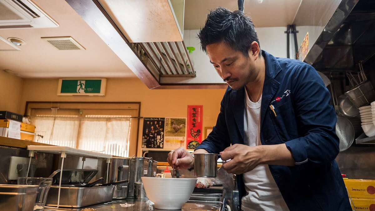 Tsuta chef-owner Yuki Onishi makes a bowl of ramen. He's opening the first U.S. location of Tsuta in the Metreon in San Francisco.