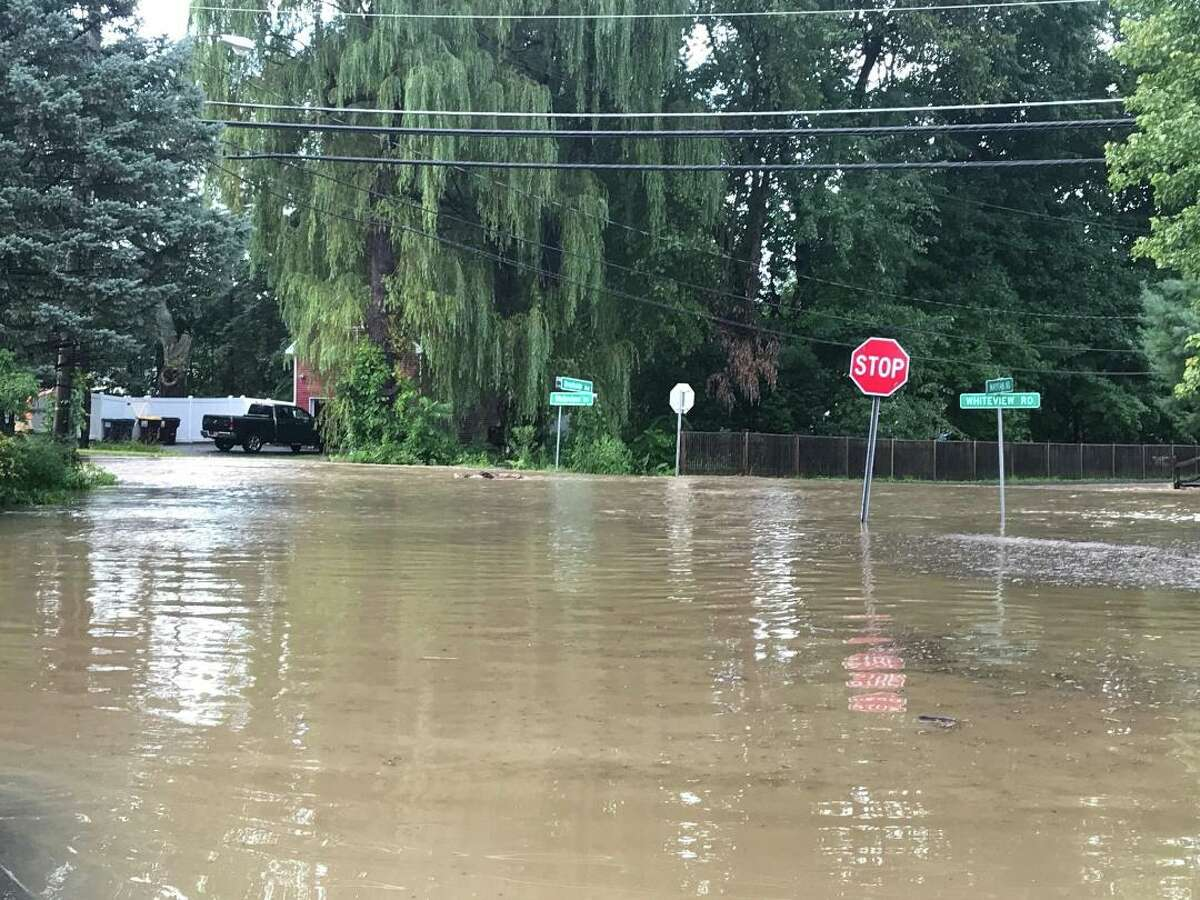 Rensselaer County posted photos of flooding and road damage following a severe thunderstorm on Wednesday, Aug. 21, 2019.