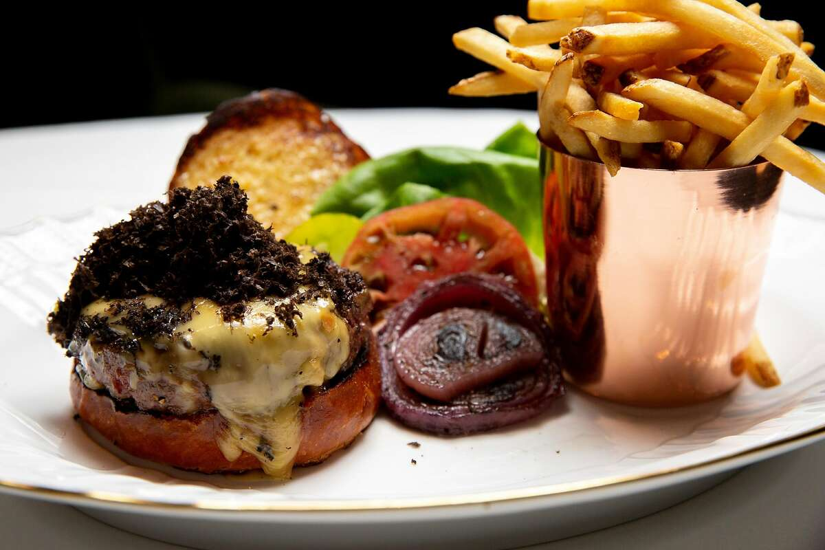 The Black Label Burger at Selby's Restaurant on Wednesday, July 24, 2019, in Redwood City, Calif.