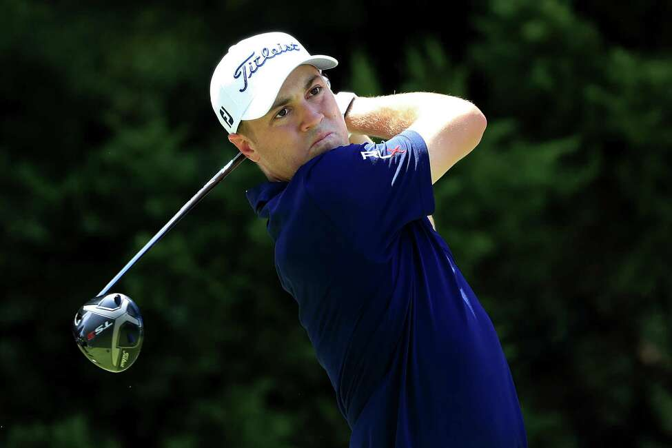 ATLANTA, GEORGIA - AUGUST 21: Justin Thomas plays a shot during a practice round prior to the TOUR Championship at East Lake Golf Club on August 21, 2019 in Atlanta, Georgia. (Photo by Sam Greenwood/Getty Images)