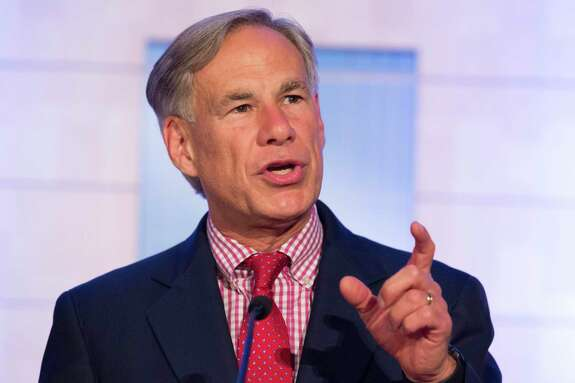 Gov. Greg Abbott shares the process of forming the University of Houston College of Medicine during the bill signing ceremony on Wednesday, Aug. 21, 2019, in Houston. Abbott, who officially signed HB826 bill into law in May, signed the bill again during the ceremony.
