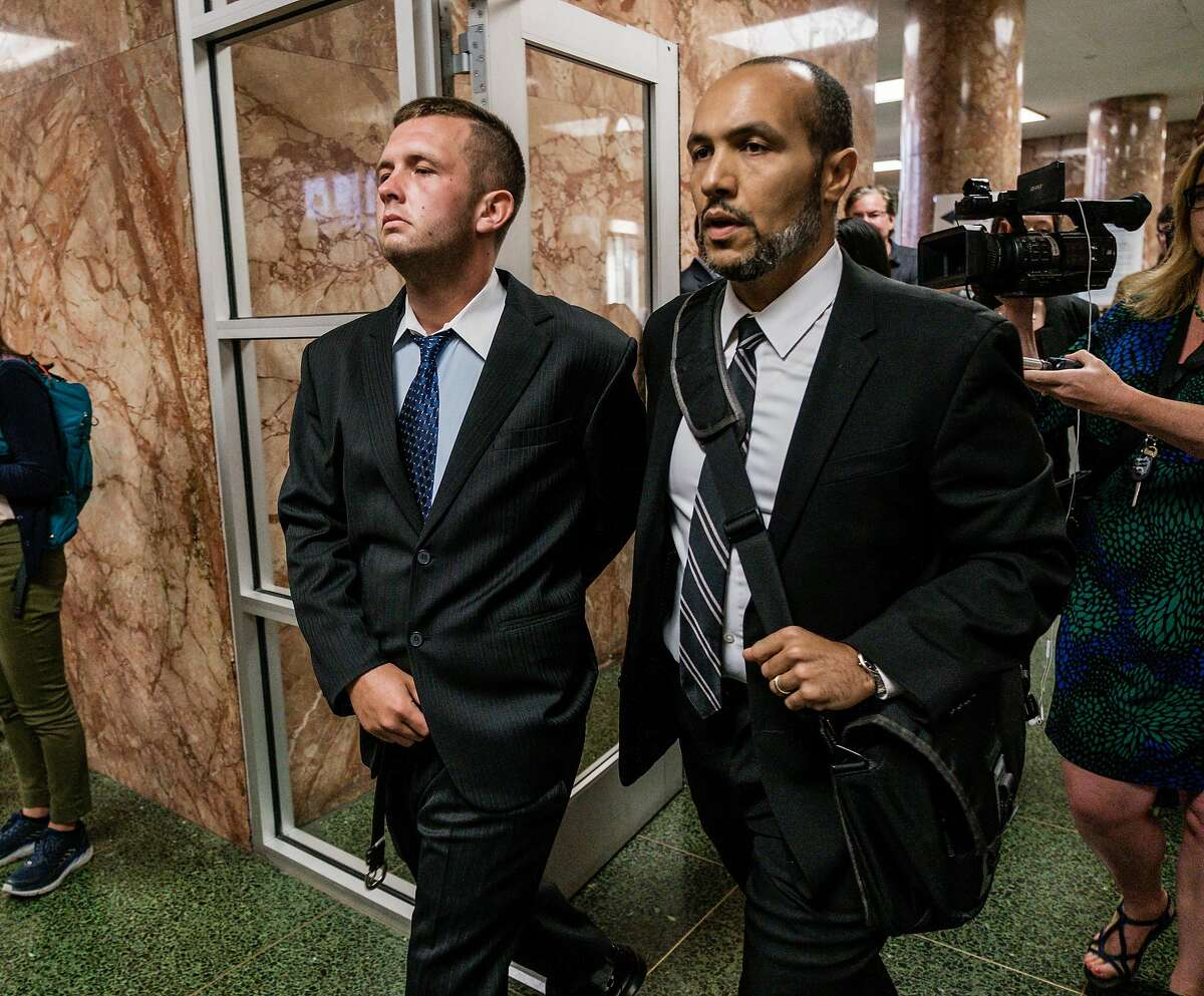 August 19, 2019 - Austin James Vincent and his attorney, Deputy public defender Saleem Belbahri arrive at the Hall of Justice Monday morning for Mr. Vincent�s court appearance. Vincent allegedly attacked 26-year old Paneez Kosarian as she tried to enter the Watermark condominium lobby at 510 Beale St. early Aug. 11. Investigators are looking into whether Austin James Vincent may be involved in two other criminal cases after victims came forward and said they recognized the 25-year-old�s mugshot publicized last week. Vincent surrendered to San Francisco police on a $100,000 arrest warrant when he appeared for a 9 a.m. hearing in San Francisco Superior Court.