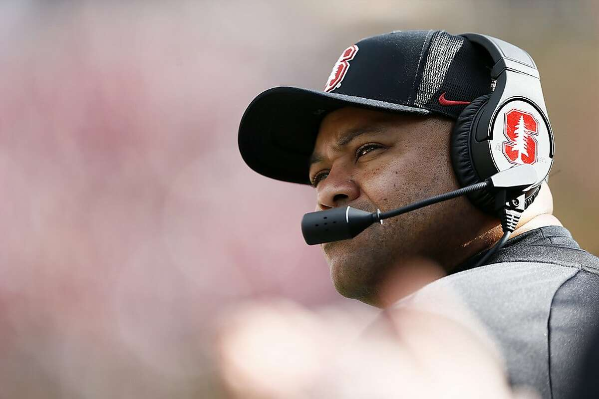 Stanford head coach David Shaw during the first half of the 121st Big Game against Cal in Berkeley.