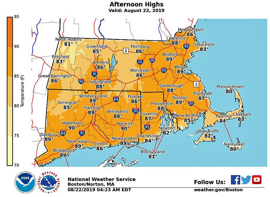 Forecast: A hot and humid day with bad air