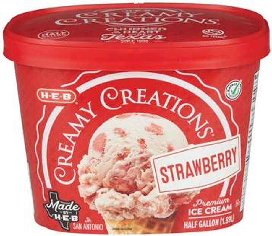H-E-B has issued a voluntary recall on Strawberry Creamy Creations ice cream at select stores after potential meatal was found during a routine inspection, according to a news release. Photo: H-E-B