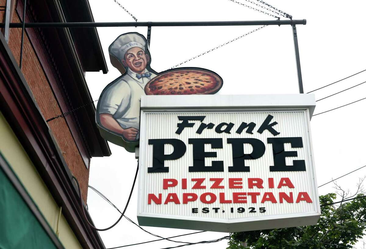 Frank Pepe Pizzeria Napoletana on Wooster Street in New Haven photographed on August 6, 2019.