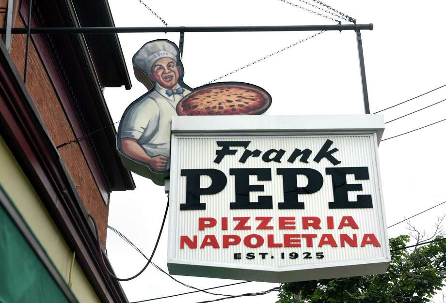 Frank Pepe Pizzeria Napoletana on Wooster Street in New Haven photographed on August 6, 2019. Photo: Arnold Gold / Hearst Connecticut Media / New Haven Register
