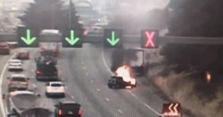 Delays expected after crash, car fire on NB I-5 in south Seattle