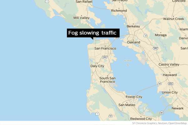 Thick fog blankets Bay Area bridges to stifle morning traffic