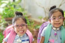 The two 5-year-old little girls, who made national headlines when a Texas Children's Hospital surgical team separated the conjoined twins in 2014, recently started the Pre-K 4 in Littlefield.