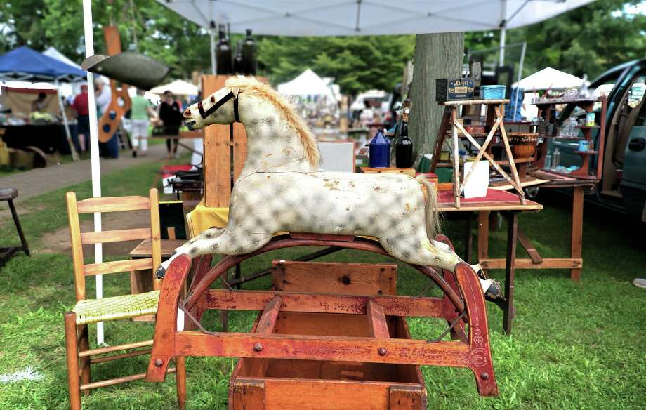 The Madison Historical Society will host more than 50 vendors of fine antiques and collectibles during the 48th Annual Antiques Fair, 9 a.m.-4 p.m. Saturday on the town green. Dealers from across New England will be on site, along with live music and food provided by Spice Catering of Durham. Above, an antique rocking horse was featured in the 2018 fair. Photo: Bob Gundersen / Contributed Photo / ALL RIGHTS RESERVED