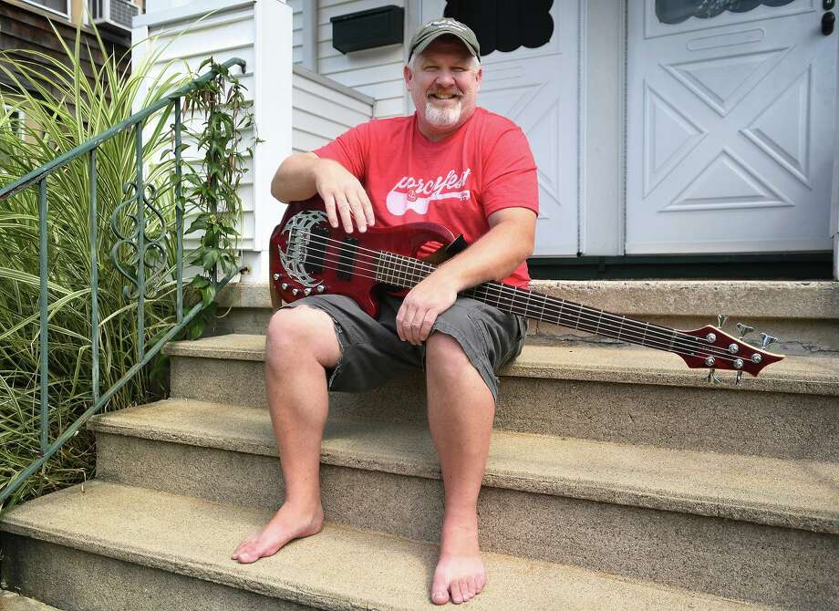 Jeffrey Fox, of the Black Rock section of Bridgeport, and his band the Lake Avenue Project will play their fourth consecutive Porchfest in the neighborhood on Saturday, August 24, 2019. Photo: Brian A. Pounds / Hearst Connecticut Media / Connecticut Post