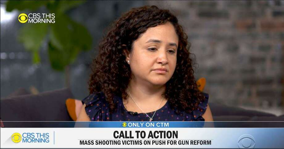 Nelba Marquez-Greene, the mother of a girl who was slain in the Sandy Hook massacre, appearing Thursday on CBS This Morning. Photo: CBS This Morning