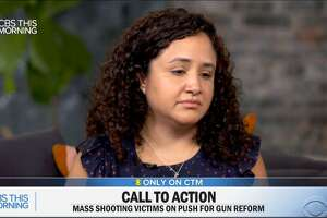 Nelba Marquez-Greene, the mother of a girl who was slain in the Sandy Hook massacre, appearing Thursday on CBS This Morning.