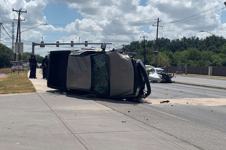 Major accident backs up traffic Thursday on the city's West Side at the intersection of Culebra Road and Old Frisson Road.