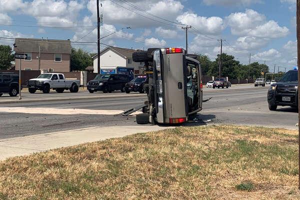 Three-car accident in San Antonio hospitalizes man, pregnant