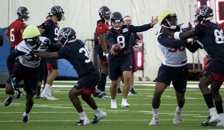 PHOTOS: Texans vs. Chiefs  Houston Texans punter Trevor Daniel (8) works with the punt team during training camp at the Methodist Training Center on Thursday, Aug. 22, 2019, in Houston.  >>>See more photos from the Texans' win against the Chiefs on Sunday ...  Photo: Brett Coomer, Staff Photographer / © 2019 Houston Chronicle