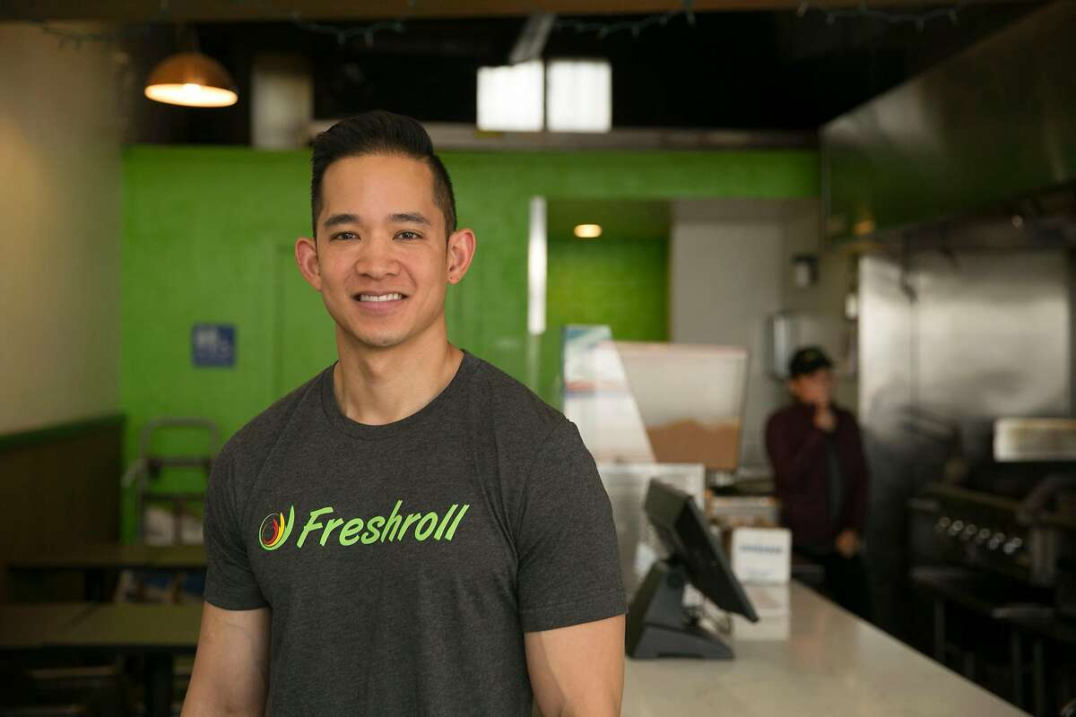 Co-founder Nam Hoang stands for a portrait at Freshroll Vietnamese Rolls & Bowls on Kearny Street on Thursday, August, 22, 2019 in San Francisco, CA.