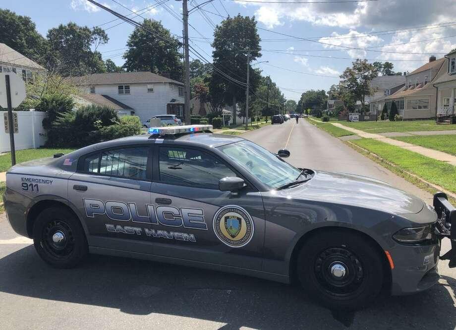 An East Haven police vehicle. Photo: Ben Lambert / Hearst Connecticut Media