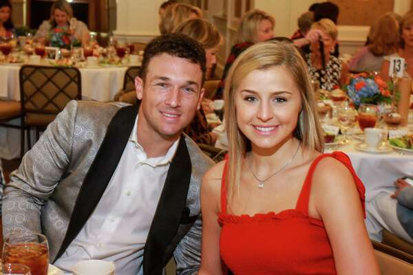 EMBARGOED FOR SOCIETY REPORTER UNTIL AUGUST 25 Alex Bregman and Reagan Howard at the Huntington's Disease luncheon at River Oaks Country Club on August 22, 2019.