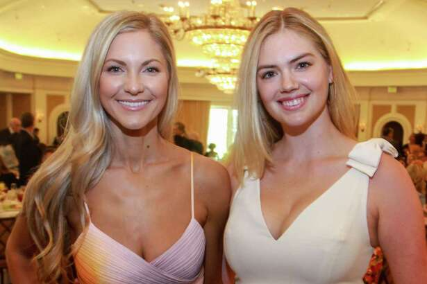EMBARGOED FOR SOCIETY REPORTER UNTIL AUGUST 25 Amy Cole, left, and Kate Upton at the Huntington's Disease luncheon at River Oaks Country Club on August 22, 2019.